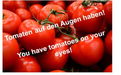 Do you ever have tomatoes on your eyes? The importance of teaching Idioms